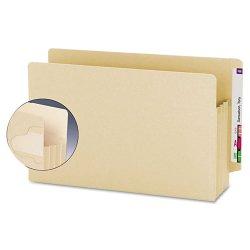 "Smead - 76150 - Smead Extra Wide End Tab Manila TUFF® Pockets - Legal - 8 1/2"" x 14"" Sheet Size - 3 1/2"" Expansion - End Tab Location - Manila - Manila - Recycled - 10 / Box"