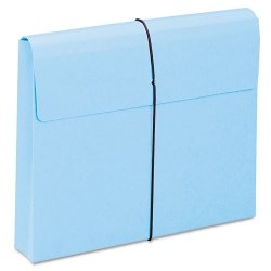 "Smead - 77203 - Smead Redrope and Colored Expanding Wallets with Elastic Cord - Letter - 8 1/2"" x 11"" Sheet Size - 2"" Expansion - 11 pt. Folder Thickness - Blue - Recycled - 10 / Box"