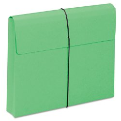 "Smead - 77204 - Smead Redrope and Colored Expanding Wallets with Elastic Cord - Letter - 8 1/2"" x 11"" Sheet Size - 2"" Expansion - 11 pt. Folder Thickness - Green - Recycled - 10 / Box"