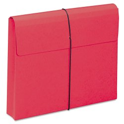 "Smead - 77205 - Smead Redrope and Colored Expanding Wallets with Elastic Cord - Letter - 8 1/2"" x 11"" Sheet Size - 2"" Expansion - 11 pt. Folder Thickness - Red - Recycled - 10 / Box"