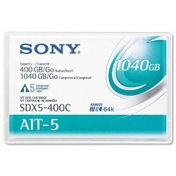 Sony - SDX5400C - Sony AIT-5 Tape Cartridge - AIT-5 - 400 GB (Native) / 1.02 TB (Compressed) - 1 Pack