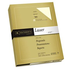 "SouthWorth - 368C - Southworth Premium 368C Laser Paper - Letter - 8.50"" x 11"" - 32 lb Basis Weight - Recycled - 55% Recycled Content - Smooth - 97 Brightness - 300 / Pack - Ivory"