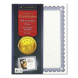 Award and Certificate Supplies