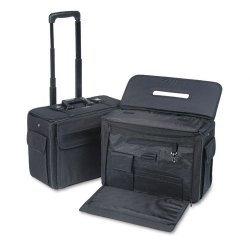 Stebco - 261710BLK - STEBCO Collection Catalog/Computer Case on Wheels, Nylon, 18 x 8 x 13, Black