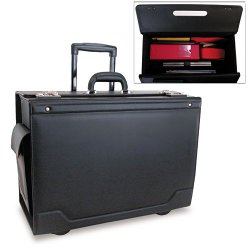 Stebco - 341626BLK - STEBCO Collection Rolling Catalog Case, 21 3/4 x 15 1/2 x 9 3/4, Black