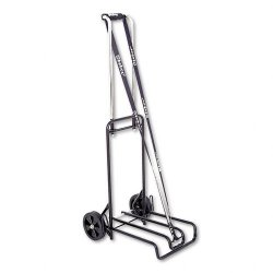 Stebco - 390007BLK - Luggage Cart, 250lb Capacity, 12 1/4 x 13 Surface, Black/Chrome