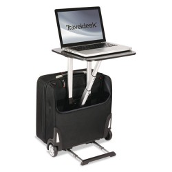 Stebco - TRVW777 - Traveldesk Mobile Work Station, Polyester, 10 3/4 x 18 1/2 x 17 1/4, Black