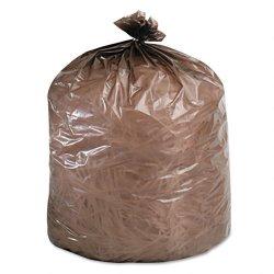 Stor-A-File - G3036B80 - Eco-Degradable Plastic Trash Bag, 20-30gal, .8mil, 30 x 36, Brown, 60/Box