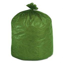 Stor-A-File - G3340E11 - Eco-Degradable Plastic Trash Garbage Bag, 33gal, 1.1mil, 33 x 40, Green, 40/Box