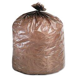 Stor-A-File - G3344B11 - Eco-Degradable Plastic Trash Garbage Bag, 39gal, 1.1mil, 33 x 44, Brown, 40/Box