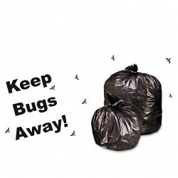 Stor-A-File - P3752K20 - Insect-Repellent Trash Garbage Bags, 55gal, 2mil, 37 x 52, Blk, 65/Box