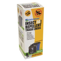 Stor-A-File - P3340K13R - Insect-Repellent Trash Bags, 33 x 40, 1.3 mil, Black