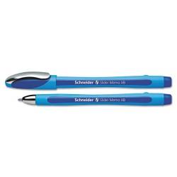 APC / Schneider Electric - 150203 - Schneider Slider Memo XB Ballpoint Stick Pen, 1.4mm, Blue, 10/Box