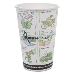 Savannah / NatureHouse - C010R PACK - Compostable Insulated Ripple-Grip Hot Cups, 10oz, White, 25/Pack