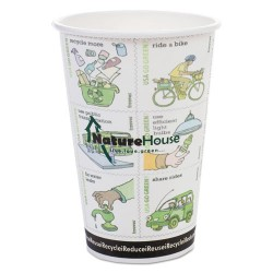 Savannah / NatureHouse - C012R PACK - Compostable Insulated Ripple-Grip Hot Cups, 12oz, White, 25/Pack