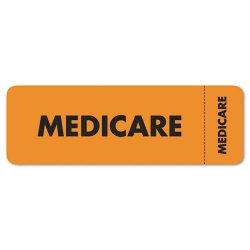 Tabbies - 03080 - Tabbies Medicare Insurance Labels - 3 Width x 1 Length - Orange - 250 / Roll