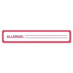 Tabbies - 40561 - Tabbies ALLERGIC Allergy Message Labels - 5 1/2 Width x 1 Length - Black, Black - 175 / Roll