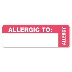 Tabbies - 40562 - Tabbies Allergic To: Medical Wrap Labels - 3 Width x 1 Length - Red - 500 / Roll