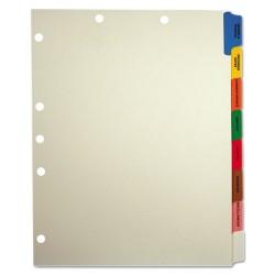 Tabbies - 54505 - Medical Chart Divider Sets, Side Tab, 9 x 11, 40 Sets/Box