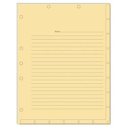 Tabbies - 54519 - Medical Chart Index Divider Sheets, 8-1/2 x 11, Manila, 400/Box