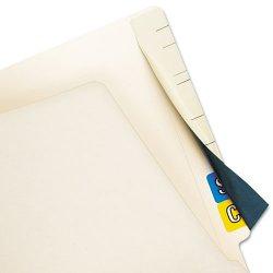 Tabbies - 55990 - Tabbies Cov'R'Tab Color Code Cover - 8 Length x 2.50 Width - Self-adhesive - Manila - Paper - 50/Pack