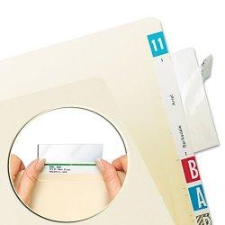 Tabbies - 58385 - Tabbies Self-adhesive File Folder Label Protectors - 3 1/2 x 2 Sheet - Rectangular - Clear - 100 / Pack