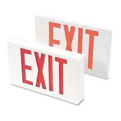 "Tatco - 07230 - LED Exit Sign, Polycarbonate, 12 1/4"" x 2 1/2"" x 8 3/4"", White"