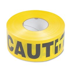 Tatco - 10700 - Caution Barricade Safety Tape, Yellow, 3w x 1000ft Roll