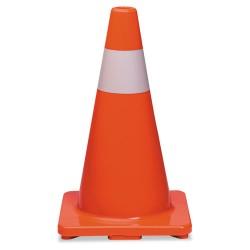 Tatco - 25500 - Traffic Cone, 18h x 10w x 10d, Orange/Silver