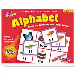 Trend Enterprises - T-58101 - Trend Match Me Alphabet Learning Game - Educational - 1 to 8 Players