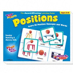 Trend Enterprises - T-58104 - Trend Positions Match Me Games - Educational - 1 to 8 Players
