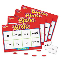 Trend Enterprises - T6064 - Trend Sight Words Bingo Game - Theme/Subject: Learning