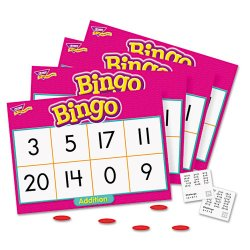 Trend Enterprises - T6069 - Trend Addition Bingo Game - Theme/Subject: Learning - Skill Learning: Addition, Mathematics