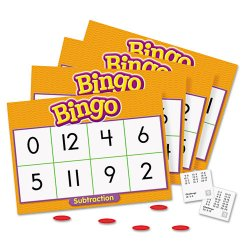 Trend Enterprises - T6070 - Trend Subtraction Bingo Learning Game - Theme/Subject: Learning - Skill Learning: Subtraction, Mathematics