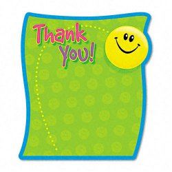 Trend Enterprises - T72030 - Thank You Note Pad, 5 x 5, 50 Sheets