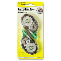 American Tombow - 68627 - MONO Correction Tape, Non-Refillable, 1/6 x 394, White Tape, 2/Pack