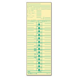 Tops - 1253 - Time Card for Acroprint and Lathem, Weekly, 3 1/2 x 10 1/2, 500/Box