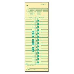 Tops - 1255 - Time Card for Cincinnati/Simplex, Weekly, 3 1/2 x 10 1/2, 500/Box
