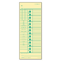 Tops - 1257 - Time Card for Acroprint/Simplex, Weekly, Two-Sided, 3 1/2 x 9, 500/Box