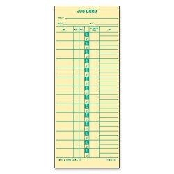 Tops - 1258 - Job Card for Cincinnati/Lathem/Simplex, 1 Side, 3 1/2 x 9, 500/Box