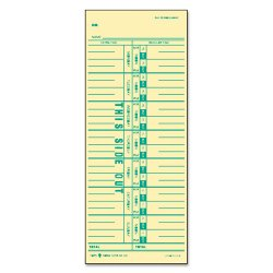 Tops - 1259 - Time Card for Acroprint/IBM/Lathem/Simplex, Weekly, 3 1/2 x 9, 500/Box