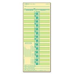 Tops - 1275 - Time Card for Lathem, Bi-Weekly, Two-Sided, 3 1/2 x 9, 500/Box