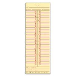 Tops - 1276 - Time Card for Cincinnati/Lathem/Simplex/Acroprint, Semi-Monthly, 500/Box
