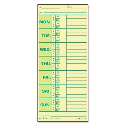 Tops - 1291 - Time Card for Pyramid Model 331-10, Weekly, Two-Sided, 3 1/2 x 8 1/2, 500/Box