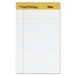 "Tops - 71500 - ""The Legal Pad"" Ruled Perforated Pads, Narrow, 5 x 8, White, 50 Sheets, DZ"