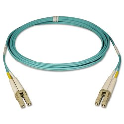 Tripp Lite - N820-01M - Tripp Lite 10Gb Duplex Multimode 50/125 OM3 - LSZH Fiber Patch Cable (LC/LC) - Aqua, 1M (3-ft.)