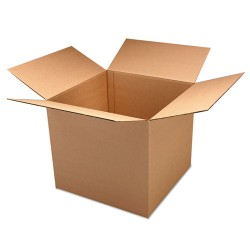United Facility Supply - UFS161212DW - Corrugated Kraft Double Wall Shipping Boxes, 16l x 12w x 12h, 15/BD