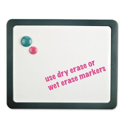 Universal Office Products - UNV08165 - Recycled Cubicle Dry Erase Board, 15 7/8 x 12 7/8, Charcoal, with Three Magnets