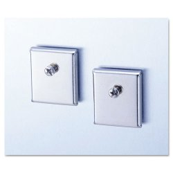 Universal Office Products - UNV08172 - Cubicle Accessory Mounting Magnets, Silver, Set of 2