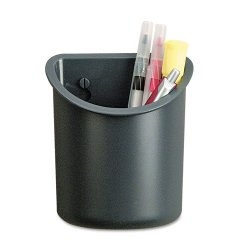 Universal Office Products - UNV08193 - Recycled Plastic Cubicle Pencil Cup, 4 1/4 x 2 1/2 x 5, Charcoal
